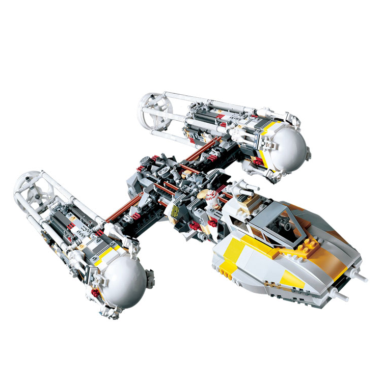 Star Wars Fighter Series Y-wing Attack Starfighter Building Blocks 1473pcs Bricks Toys Compatible With Legoings Star War 10134 new 1685pcs lepin 05036 1685pcs star series tie building fighter educational blocks bricks toys compatible with 75095 wars