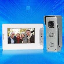 7 pulgadas a color con cable de teléfono video de la puerta sistema de intercomunicación 1 monitor + COMS IR al aire libre cámara de vídeo timbre de la puerta para el hogar Envío rápido gratis