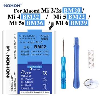 Nohon Battery For XiaoMi 5 BM22 Mi5 Mi2 Mi2s BM20 Mi4 BM32 Mi5s BM36 Mi6 BM39 Bateria +Tools For Xiaomi Mi 2 2s 4 5 5s 6 battery