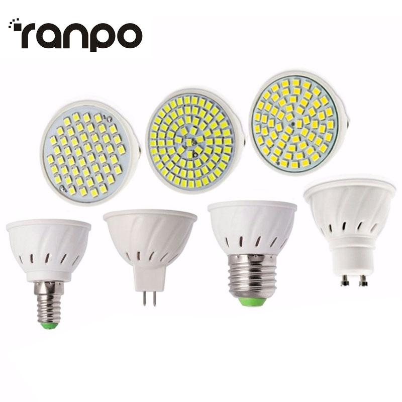 New Led Light Lamps E27/E14/GU10/MR16 LED Lamp Spotlight 6/9/12W 220V High Lumen 2835 SMD 48/60/80 LEDs Bulbs Light Warm/Cool warranty 2 years e27 par30 30w led bulbs light no dimmable110v 220v warm cool white led spotights