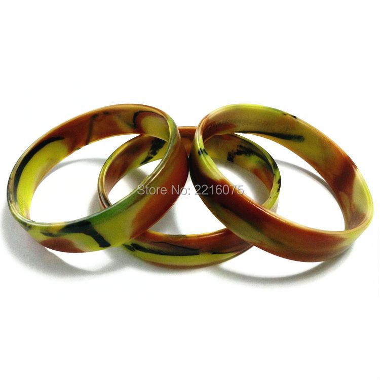 100pcs forest camo silicone wristband rubber bracelets free shipping - Support Our Troops Silicone Bracelet