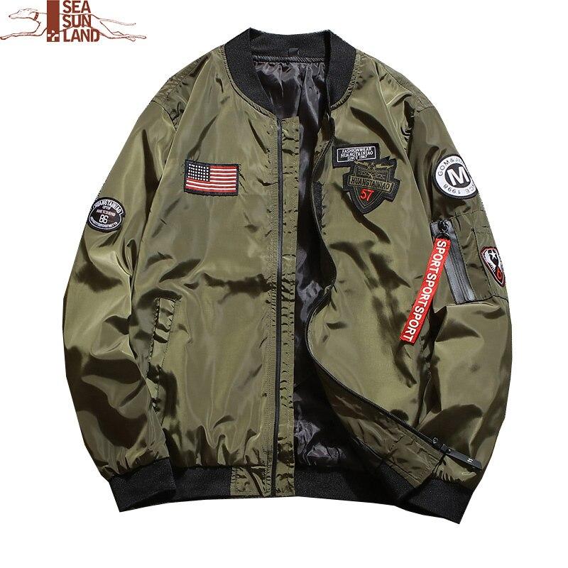 Bomberjacke Grün Pilot Flug Militärischen Herren Armee Ma1 K1Jl3TFc
