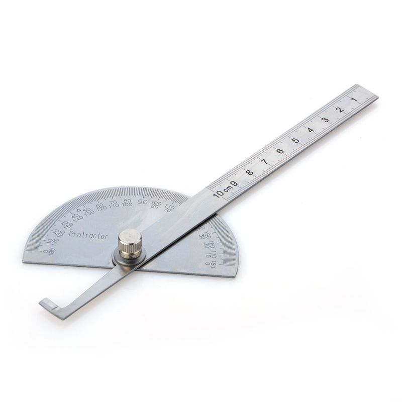Angle Ruler Protractor Stainless Steel Ruler With 180 Degree Angle Square Woodworking 10cm Angle Measuring Goniometer chinese standard course hsk 6 volume 1 with cd chinese mandarin hsk standard tutorial students textbook