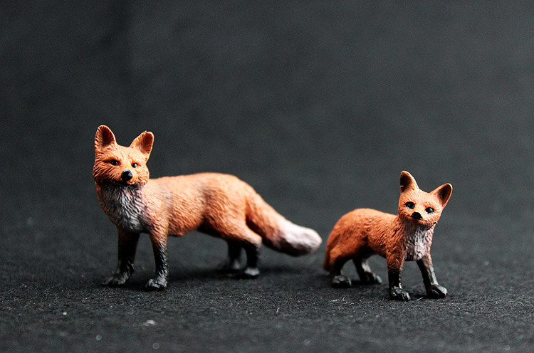 Original Wild Life Zoo Animal Red Fox Figurine Collectible Figures Educational Toys For Children Gift