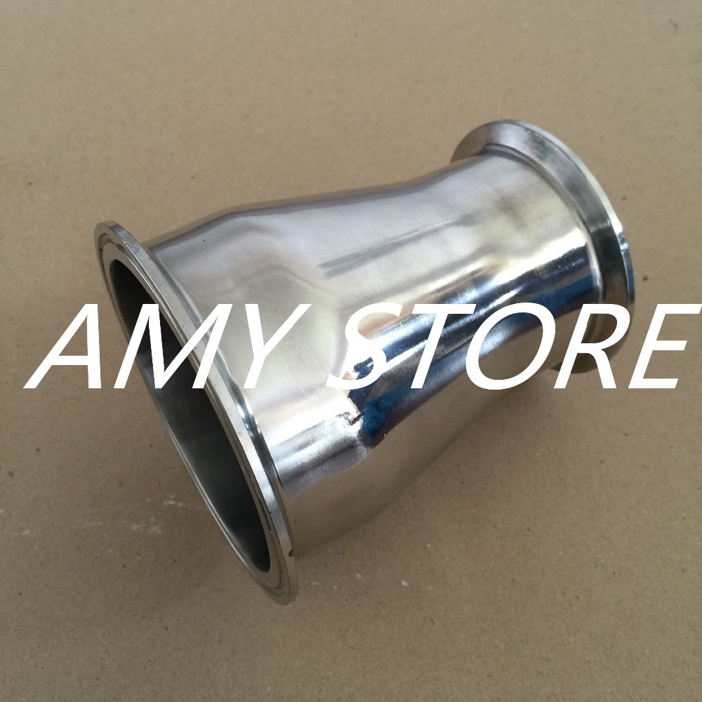 102MM to 76MM 4 to 3 Sanitary Ferrule Reducer Fitting SS304 to Tri Clamp NEW lm323k to 3