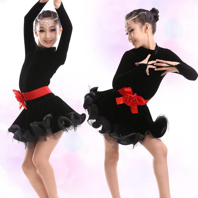 Girls Dance Latin Dresses Kids Dance Costumes Ballroom Dance Competition Dresses Children Cha Cha/Samba/Rumba/Tanto Dance Wear