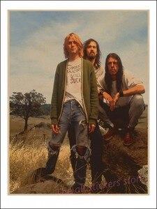 Image 3 - Vintage Áp Phích Kurt Cobain/Niết Bàn Frontman/Rock Vintage Poster/Retro Kraft Áp Phích Thanh Tranh Trang Trí/5065