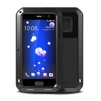 LOVE MEI Aluminum Metal Tempered Glass Film ShockProof WaterProof Luxury Armor Case For HTC U11 Case