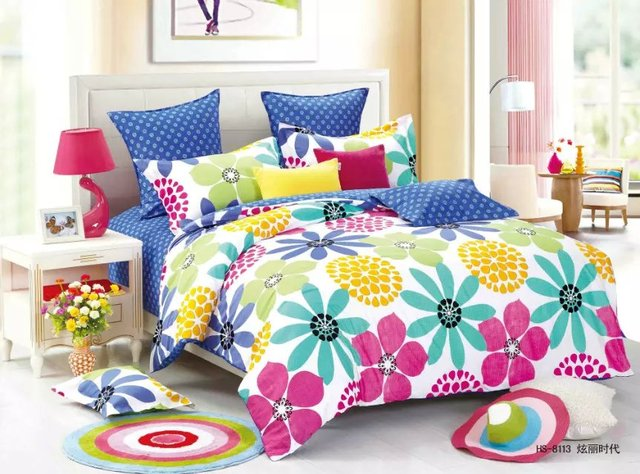 100% Cotton King Size Comforter Sets On Sale 3d Flower Printed Bed Sheets  Bedding Cheap