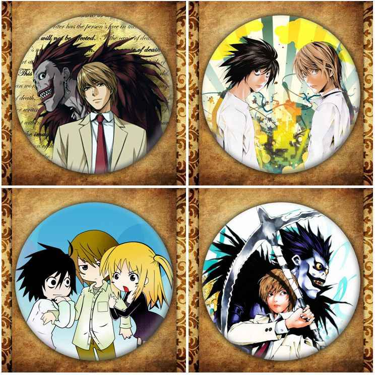 Japanse Anime Death Note Display Badge Mode Cartoon Figuur Yagami Light Misa Amane Broches Pin Sieraden Accessoires