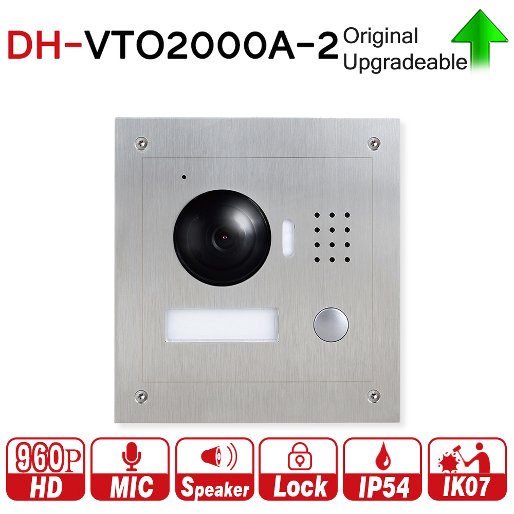 DH original VTO2000A-2 with logo 1.3MP Video Door Phone POE P2P Metal Outdoor Station Remote intercom mobile APP Night vision dh vto2000a 1 3mp video door phone poe p2p metal villa outdoor station remote intercom night vision with logo dh vto2000a