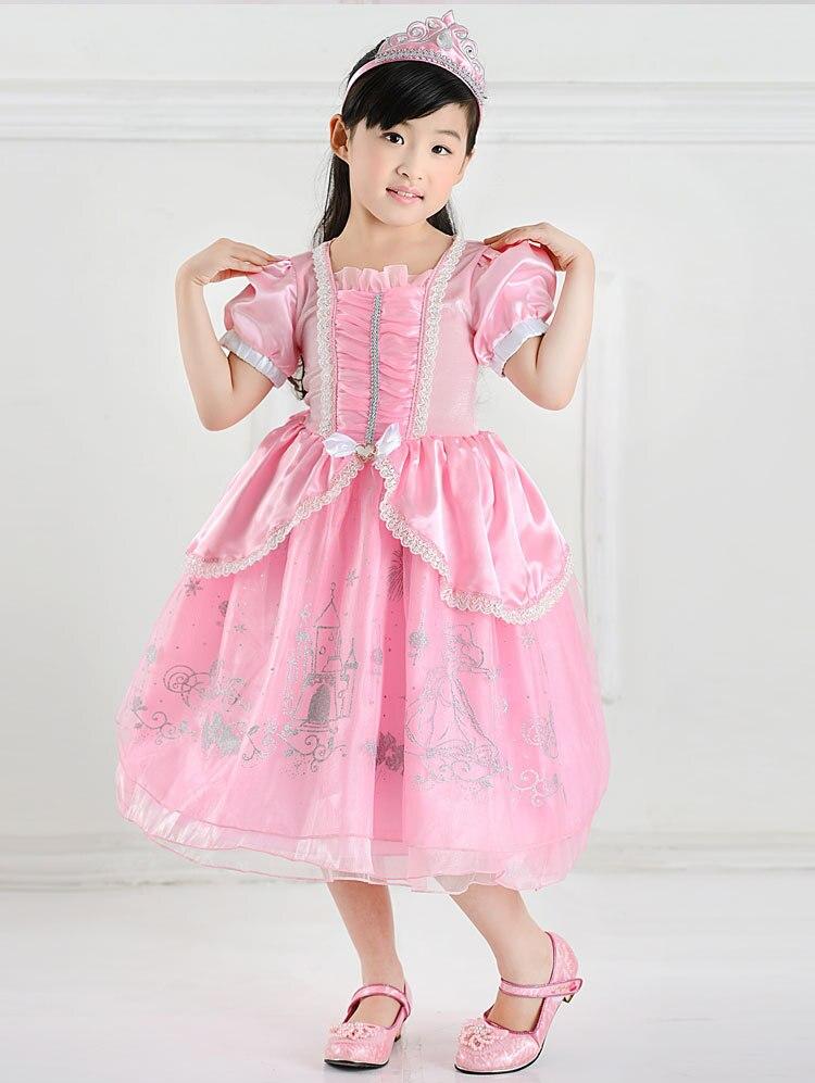Retail Mermaid Ariel Princess Children Ball Gown Pink Dress ...