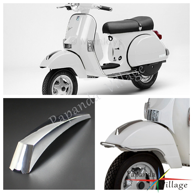 US $8 96 10% OFF|Papanda Motorbike Chrome ABS Front Fender Decoration  Mudguard Crest Strip Mount for VESPA PX 125 150 200 LML T5 EFL Disk-in  Covers &