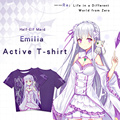 Anime Re: Life in a Different World from Zero T-shirt Emilia Polyester T Shirt Summer Active Animation Men Women Clothes