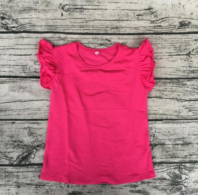 bf6f83e80392 free ship wholesale bulk boutique baby girl plain top cute soft cotton tee  shirts blank kids