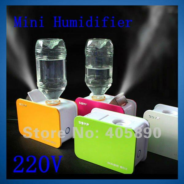 220v mineral water bottle mini humidifier supersonic anion magic box air humidifier for office. Black Bedroom Furniture Sets. Home Design Ideas