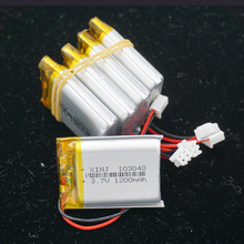 XINJ 5pcs 3.7V 1200mAh Li batteria ai polimeri di litio li po cellulare 2pin JST PH spina di 2.54mm 103040 per il GPS MID E Book lettore di Gioco Del Telefono