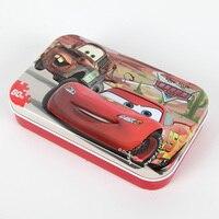60 шт./компл. Pixar тачки головоломки с железной коробкой молния McQueen головоломки доска Дети День рождения подарок игрушка поставки