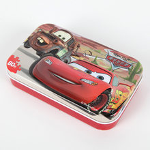 60pcs/set Pixar Cars Puzzle Jigsaw with Iron Box Lightning McQueen Jigsaw Board Kids Birthday Party Gift Toy Supplies(China)