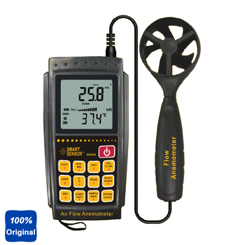 100% Original AR856 Air-flow Anemometer 0.3~45m/s USB Transmission