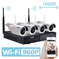 ZOSI Wireless CCTV System 4Ch 960P HD Wireless NVR kit with 4x 960p HD 1.3MP Outdoor Waterproof Wireless IP Security Cameras