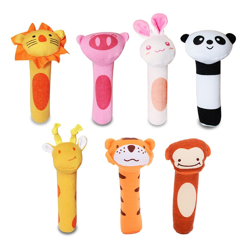 New Development Animal Soft Hair Infant Baby Plush Toy Rattle Child