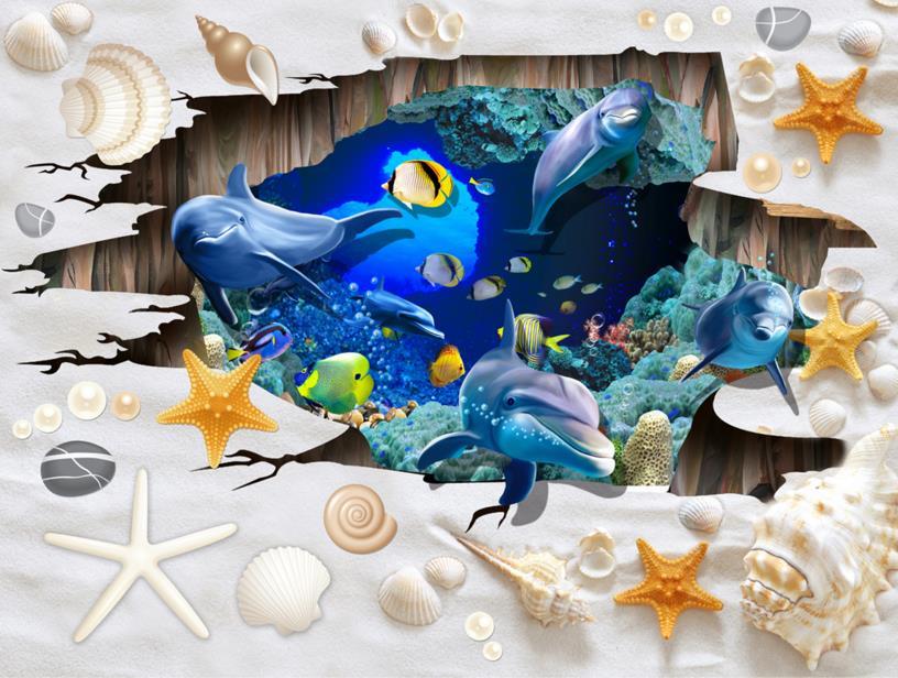 ФОТО Custom 3d flooring wallpaper Beach Underwater World 3d painting floor wallpaper PVC self-adhesive waterproof floor wallpaper