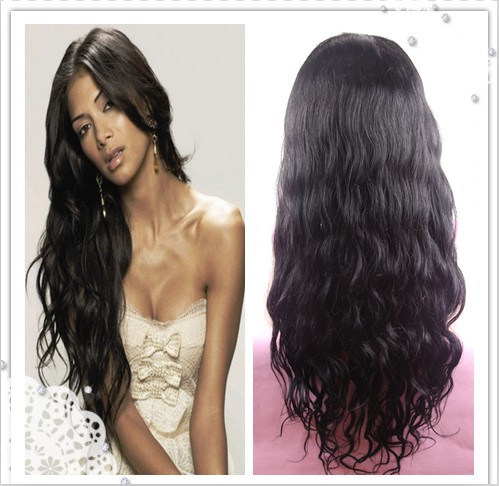 prida hair brazilian virgin natural wavy full lace wig