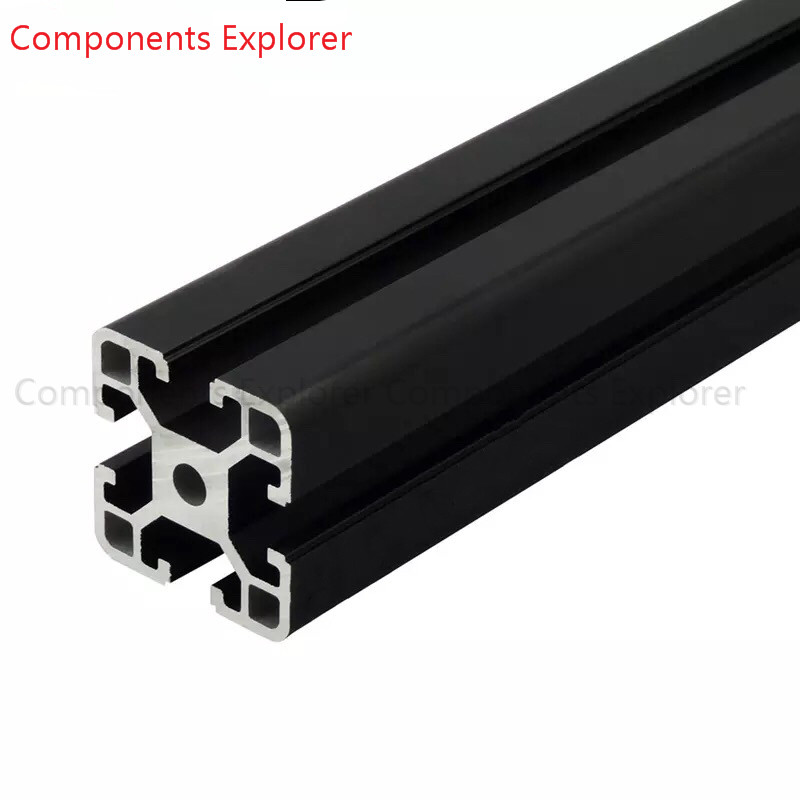 Arbitrary Cutting 1000mm 4040 Black Aluminum Extrusion Profile,Black Color.