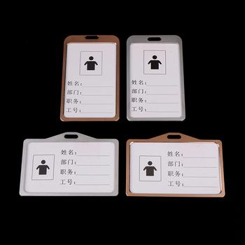 Wysokiej jakości stopu Aluminium do pracy etui na dowód osobisty nazwa Tag posiadacz karty wystawowej złoty i srebrny pokrowiec na karty tanie i dobre opinie Aluminium Alloy Available 1 Piece 6pcs box 92 4*67 4mm 85*54mm 0 04kg (0 09lb ) 10cm x 8cm x 5cm (3 94in x 3 15in x 1 97in)