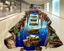 beibehang HD papel tapiz custom large hanging stone road 3D wallpaper floor living room bathroom mural self adhesive wallpaper free shipping custom grass water goldfish 3d stereo floor stickers shopping mall restaurant self adhesive wallpaper mural