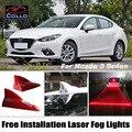 Instalação gratuita Para Mazda 3/Axela Mazda3 Sedan/Solar Barbatana de Tubarão energia Laser Fog Luz/Decoração Do Carro LEVOU Advertência lâmpada