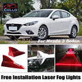 Instalación gratuita Para Mazda 3/Mazda3 Axela Sedan/Solar la energía Láser de Aleta de Tiburón Luz de Niebla/la Decoración Del Coche LED de Advertencia lámpara