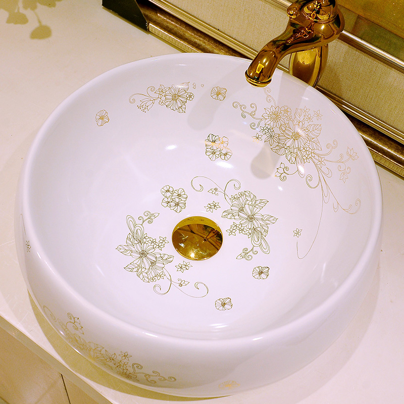 China Artistic Porcelain Handmade Porcelain Lavabo Bathroom Vessel Sinks ceramic wash basin washbasin (3)