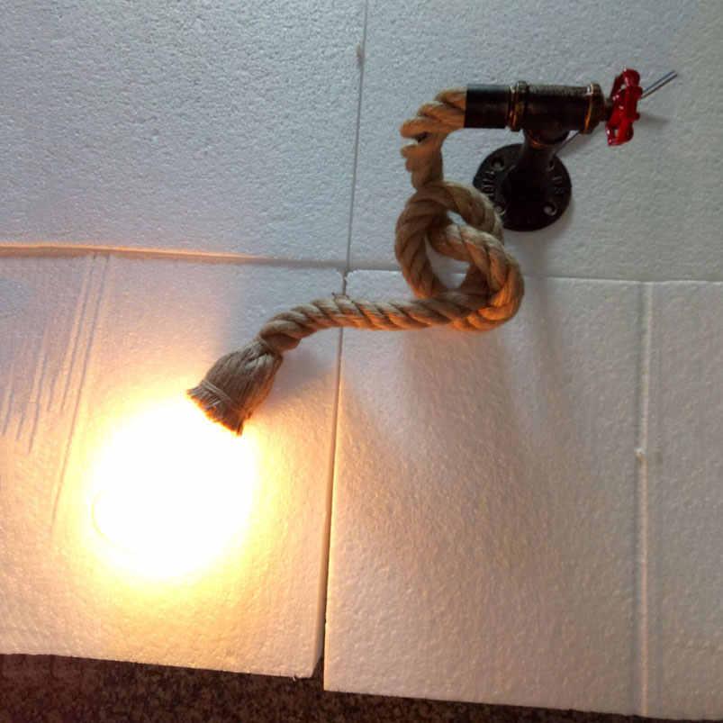 Креативный Лофт веревка настенный светильник в форме водопроводных труб restauant крыльцо передняя дверь коридор, лестница балкон склад бар клуб Кафе лампа бюстгальтер