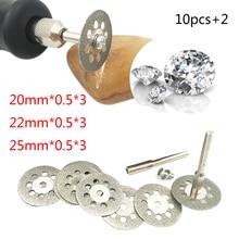 Hot Dremel Accessories 20-25mm Diamond Dremel Cutting Disc For Metal Grinding Wheel Disc Mini Circular Saw For Drill Rotary Tool