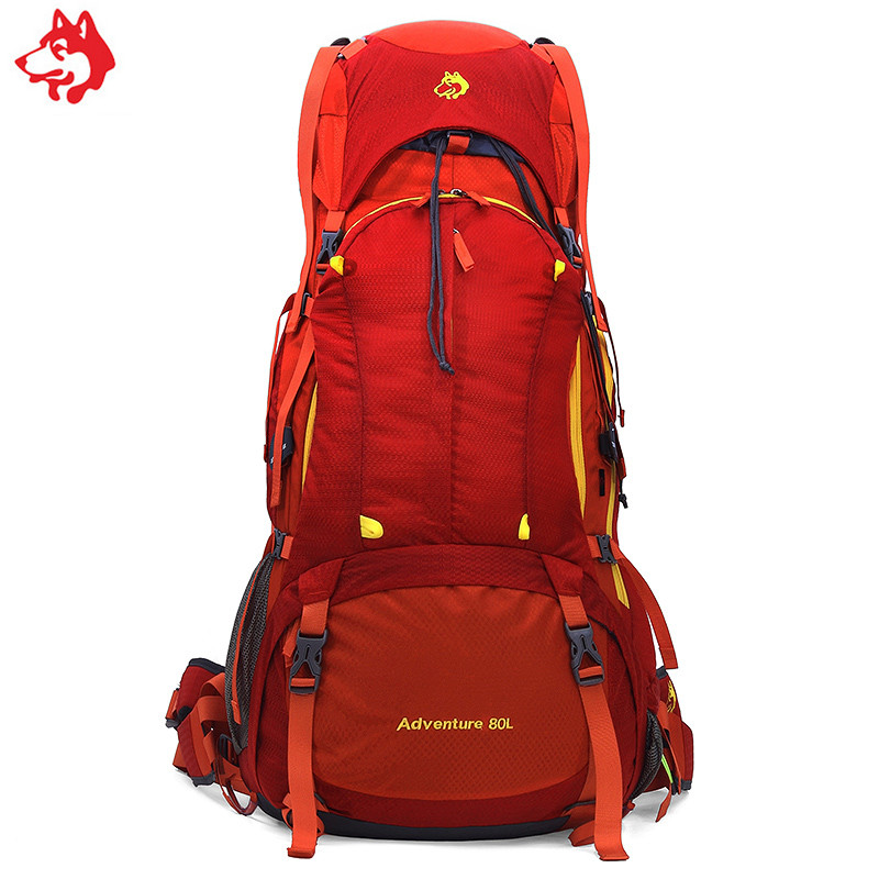 Yiwu 80L new outdoor camping hiking sports travelling bag professional heavy mountaineering bag waterproof trekking backpack
