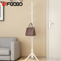 Leewince Home Furnishing Solid wooden Living Coat Rack Stands Scarves Hats Bags Clothes Shelf