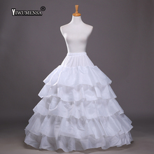 Free Shipping High Quality 4 Hoops 5 Layers Wedding Petticoat Ball Gown Crinoline Slip A Line Underskirt For Wedding Dress 2018