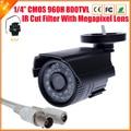 Alta calidad CCTV cámara 800TVL IR Cut filtro 24 horas día / visión nocturna de vídeo exterior impermeable del IR de vigilancia cámara de la bala