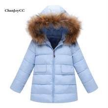 Brand ChanJoyCC  Autumn Winter New Fashion Children's Coat Kid Boys And Girls Long Sleeve Fashion  Long thick Outerwear Coat