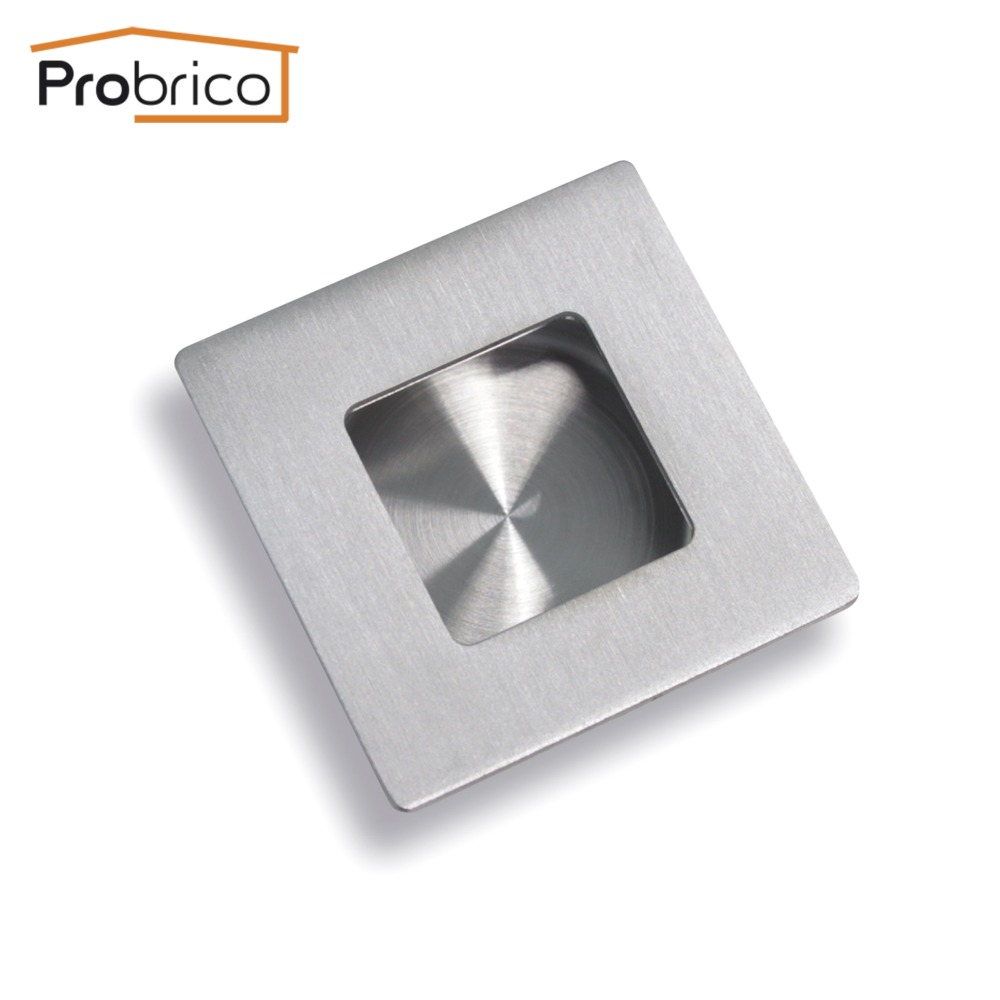 probrico recessed sliding cabinet door handlle mh009ss50 stainless steel 120mm kitchen furniture pull usa domestic delivery - Cabinet Door Pulls