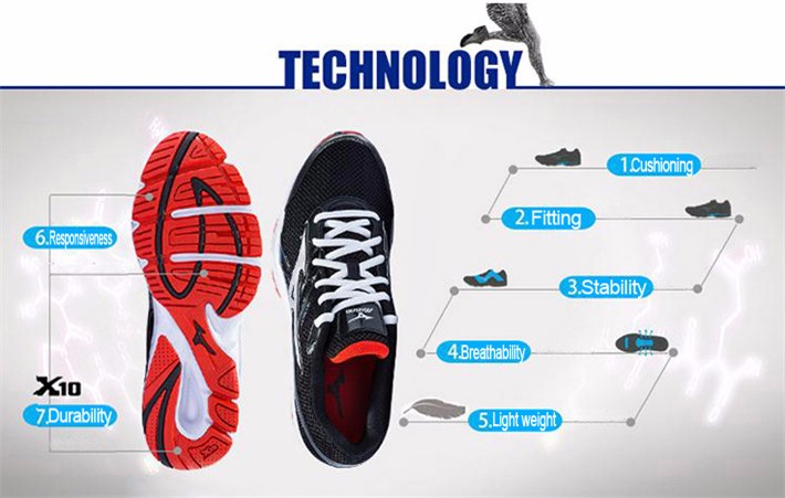 MIZUNO Men SPARK Mesh Breathable Light Weight Cushioning Jogging Running Shoes Sneakers Sport Shoes K1GR160370 XYP303 2