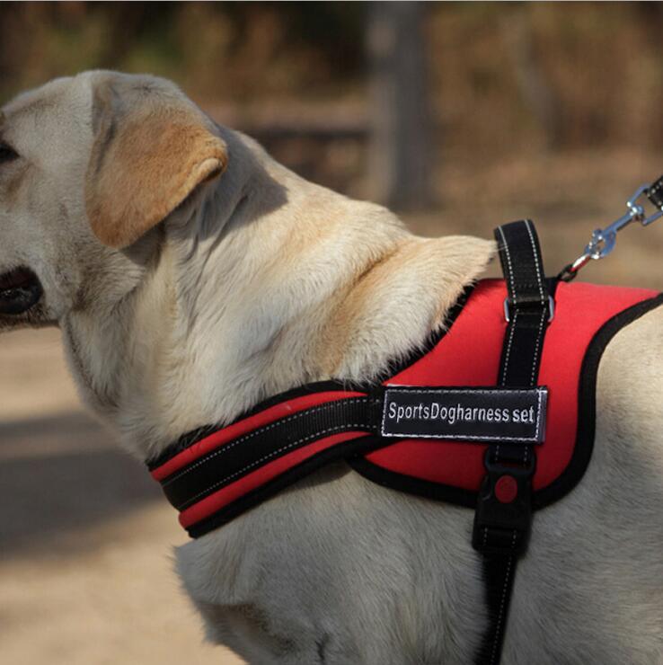 dog harness Big Dog Soft padded Adjustable Pet Large Dog Walk large dog harness small S M L XL pet products supply