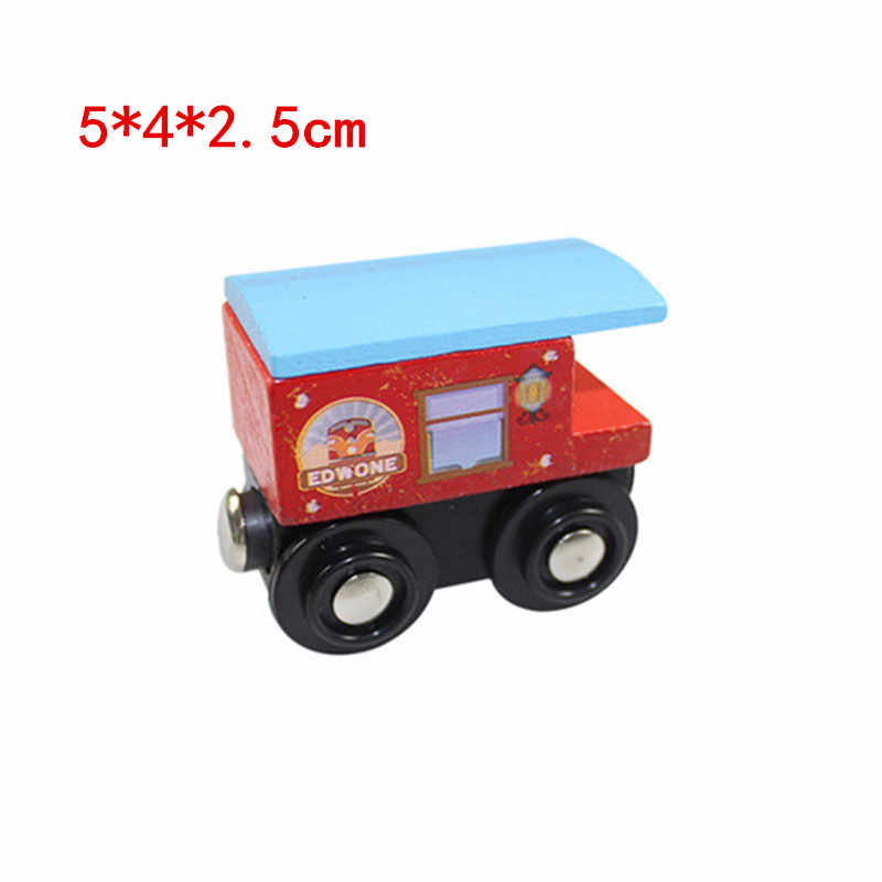 EDWONE wooden magnetic train for Tmas wooden tracks can be connected to the Tmas train variety wooden train E8 lantern car