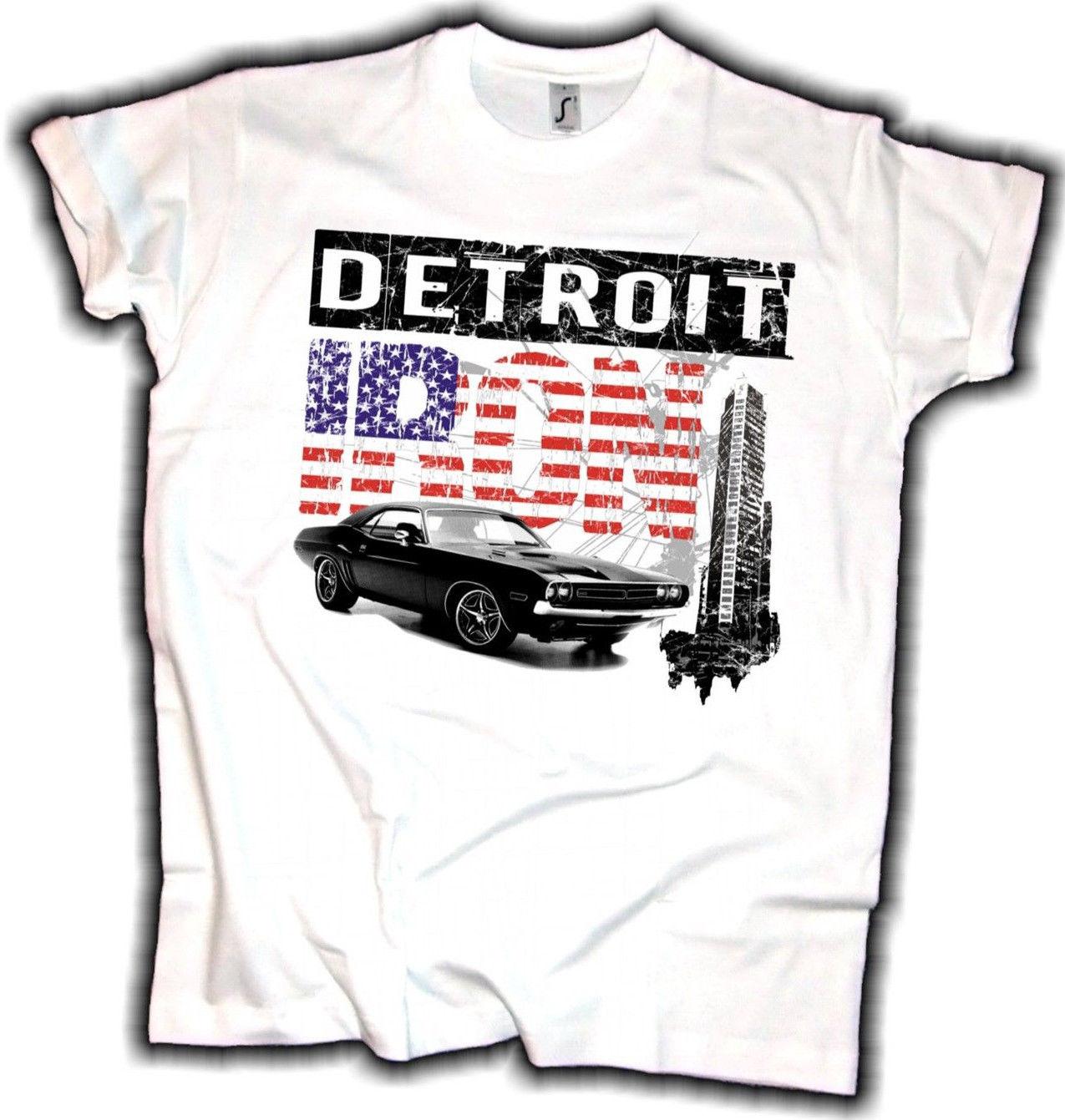 2018 Hot sale Fashion Detroit Iron T Shirt US Muscle Car Oldschool ...