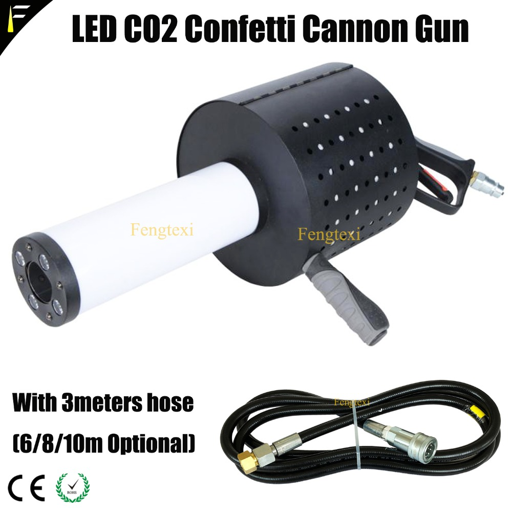 CO2 Jet Gun and Confetti Spraying 2in1 Led Dry Ice RGB Gas CO2 Shoot Jet Column