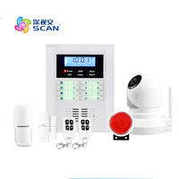 Android IOS App Remote Control WIFI Wireless Wired LCD Keypad Smart GSM Alarm System