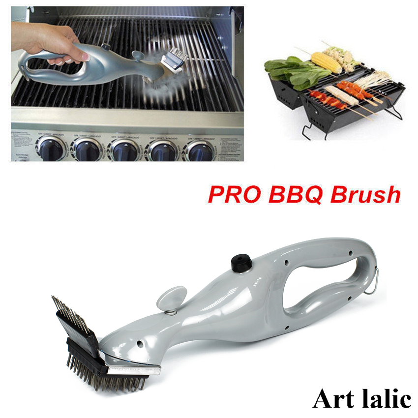 Barbecue Stainless Steel Bbq Cleaning Brush Churrasco Outdoor Grill Cleaner With Power Of Steam