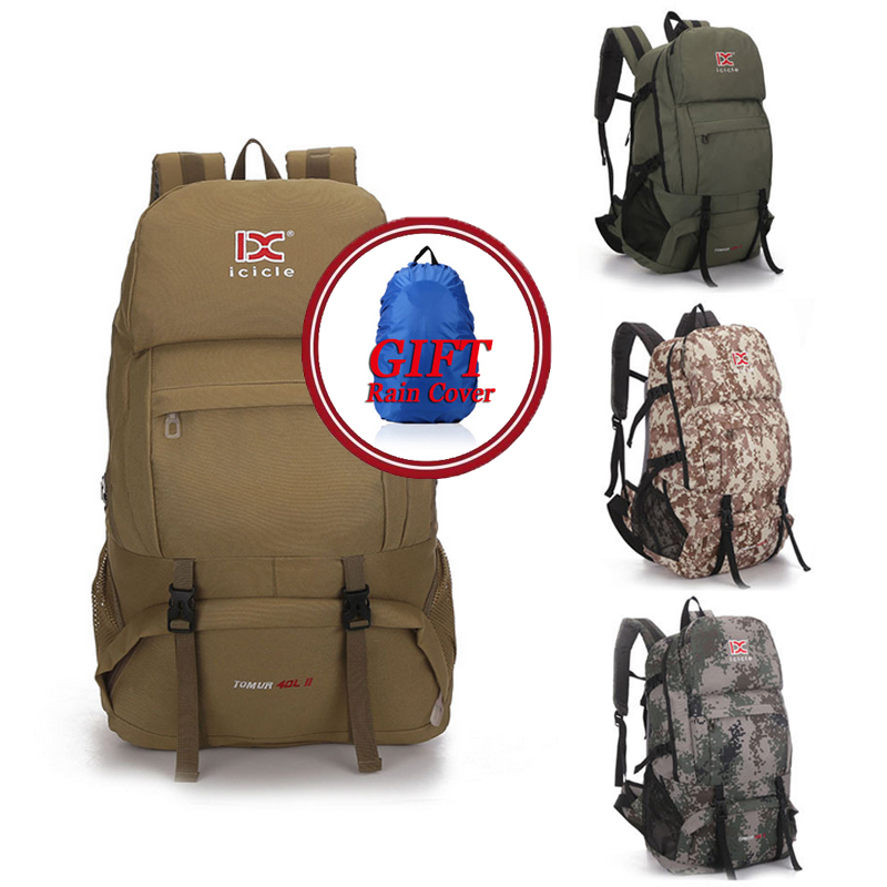 High quality Large Capacity 40L Multifunctional Outdoor Bags Waterproof Travel Backpack Climbing Hiking Rucksack free Rain cover